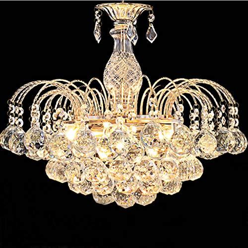 QY lampadario Durchmesser: 45 cm Höhe: 36 cm Anhänger Art: Kristall-Kronleuchter Lichtkörper Hilfsmaterial: Glas Lampen Form: Dual Saug-Kronleuchter Bestrahlungsfläche: 15 Quadratmeter-20 Quadratmeter