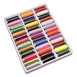Wuqiong 39 Colores/Caja Principal del Hilo de Coser Surtido Bobina Artesanía Hilo de Coser 39 de Costura Kit de Uso múltiple de Artesanía Tema de Bricolaje