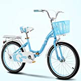 TRGCJGH Bicycle City Car Men and Women General Commuter Car Bicycle Female 20 Inch Single Speed,B-20inches