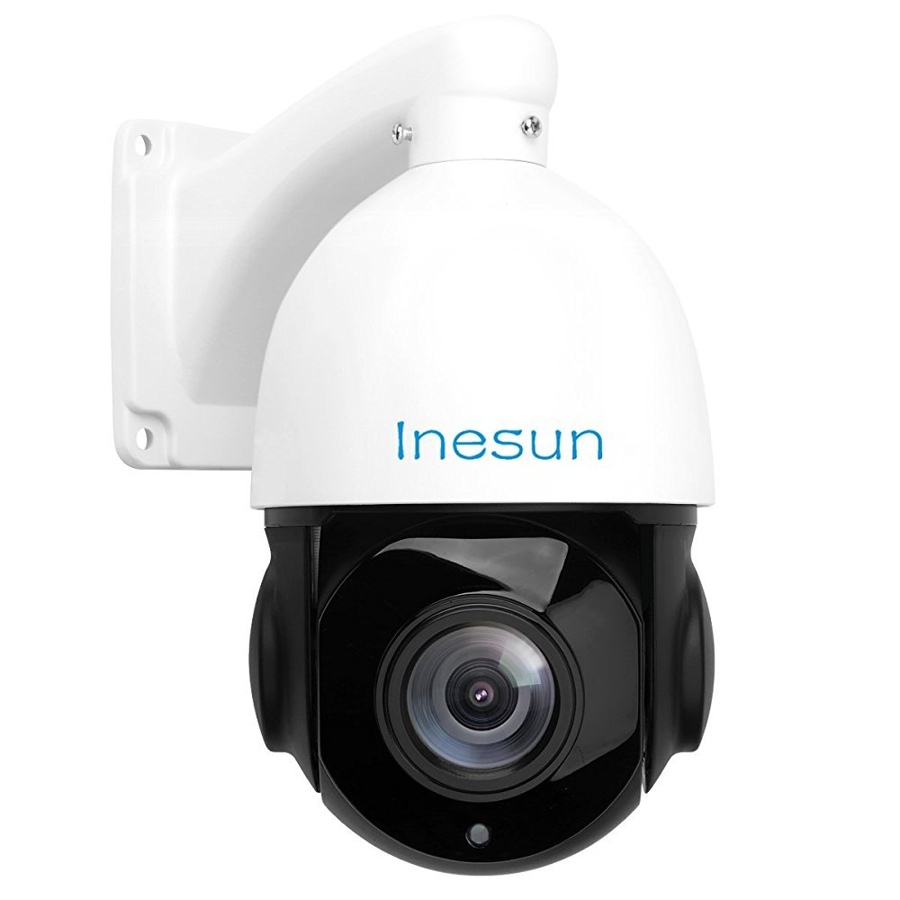 Amazon Com Inesun Ptz Ip Security Camera 5 Megapixels Super Hd 2592x1944 Pan Tilt 18x Optical Zoom H 264 H 265 Medium Speed Dome Ip Camera 4 5 Inch Mini Ip66 Waterproof Outdoor Ir Camera Support Onvif