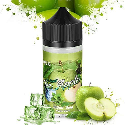 IMECIG® Eis Apfel E Liquid für E Zigaretten/E Shisha, E Liquid Aroma 70VG/30PG Vape Eliquids, ohne Nikotin(100ML)