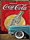 UNiQ Designs Metal Coke Tin Sign Drink Coca Cola Wall Decor Retro Posters Coca Cola Sign Vintage Coca Cola Signs Coke Decor 50's Retro Kitchen Cocacola Vintage Coke Sign Coca Cola Poster 12x8