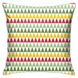 Retro Natural Beauty And Sacred Geometry Inspired Mixed Spring Pattern Dark Coral Cream Pale Green Fashion Pillow 18inch*18inch,Pillowcase Decorative Square Sofa Bedroom Car - No Inserts Included