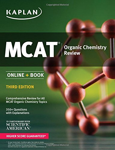 MCAT Organic Chemistry Review: Online + Book (Kaplan Test Prep)