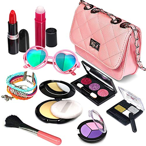 Pretend Makeup Girls Cosmetic Toys - Fake Make Up Kit Pretend Make up Set for Kids Girl Children Princess Play Makeup Game Christmas Birthday Gifts Cosmetic Toys for 2 3 4 5 6 Years Old Girls Gift
