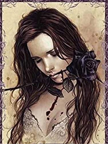 Paul Lamond 9431 Victoria France Dark Rose Puzzle (1000 piezas)