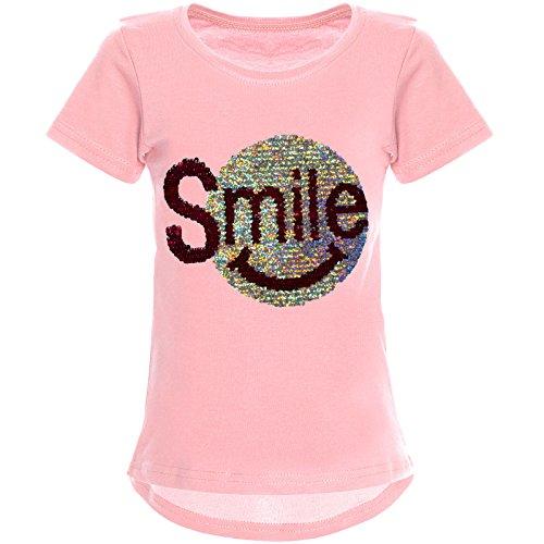 BEZLIT BEZLIT Mädchen Wende-Pailletten T-Shirt Tollem Motiv 22030 Rosa Größe 104