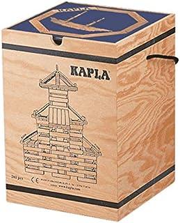 KAPLA Farbe 40er Box Holzbausteine gelb//grün mit Kunstbuch