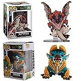 Pop Fiugres Monster Hunter Lightning Bipedal Dragon Bear Fire Dragon Figure Cadeaux d'anniversaire pour Enfants