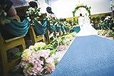 AisleRunners for Weddings 2FTx15FT Baby Blue Sequin Aisle Runner Wedding Ceremony Decorations Outdoor Carpets Ceremony Decorations RunnerRugforHallway Floor Runner for Party (2FTx15FT, Baby Blue)