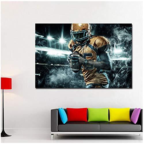 sjkkad Uniform Voetbal mannen foto posters en afdrukken muurkunst canvas schilderij print op canvas voor woonkamer decoratie 60x90 cm geen lijst