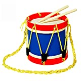MUSICUBE Marching Drum Set for Kids 8 Inch Drum with an Adjustable Strap and 2 Wooden Drum Sticks Toy Drum Set for Toddler Children Percussion Musical Instrument Gift Choice