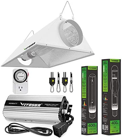 VIVOSUN Hydroponic 400 Watt HPS MH Grow Light Air Cooled Reflector Kit Easy to Set up High Stability product image