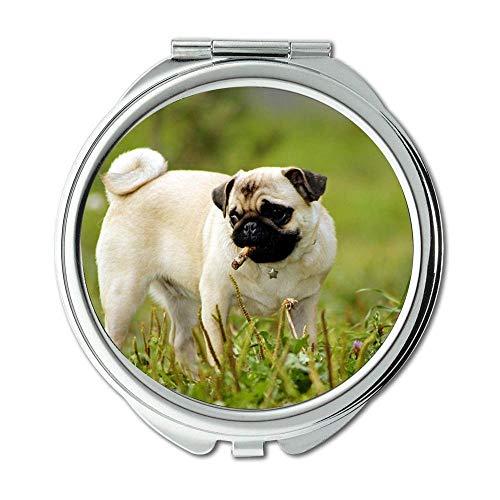 Yanteng Spiegel, Kleiner Spiegel, Hundeliebhaber vodafone Hund, Taschenspiegel, 1 X 2X Lupe