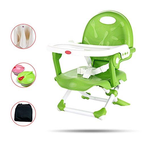 Best Bargain QARYYQ Portable Dining Chair Baby Dining Chair Children Dining Table Chair Multifunctio...