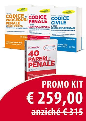 Kit sostanziali (civile + penale): Procedura penale-40 pareri di penale