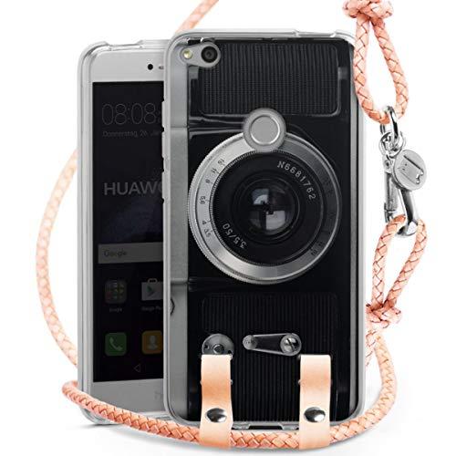 DeinDesign Carry Case kompatibel mit Huawei Honor 8 Lite Hülle mit Kordel aus Leder Handykette zum...