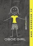 A4 Notebook 6mm: Oboe Girl Lined Exercise Book