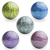 Entervending Bouncy Balls - Rubber Balls for Kids - Bowling Bounce Balls - 5 Pcs Large Bouncy Ball 45 mm - Hi Bounce...