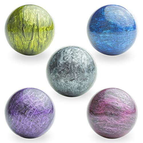 Entervending Bouncy Balls - Rubber Balls for Kids - Bowling Bounce Balls - 5 Pcs Large Bouncy Ball...