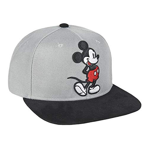 ARTESANIA CERDA Gorra Visera Plana Mickey, Gris (Gris Gris),...