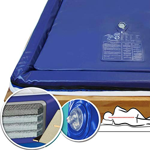 Traumreiter Wasserbettmatratze Dual 100x220 für 200x220 cm Wasserbett 70% Starke mittlere Beruhigung MESAMOLL 2 Softside Wassermatratze Wasserkern-Matratze