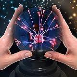 Theefun Magische Plasmakugel Mini Leucht Tragbare Ball Elektrostatische Kugel Berührungsempfindliche Blitzkugel, Blinkende Pädagogisches Spielzeug Physik Blitzlicht Plasmalampe Sphäre...