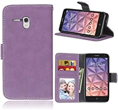 Alcatel One Touch Fierce XL Wallet Case, FUBAODA [Drop Protection] Premium PU Leather Wallet Phone Cover with Card Slots & Stand &Magnetic Closure for Alcatel Onetouch Fierce XL 5054(Purple)