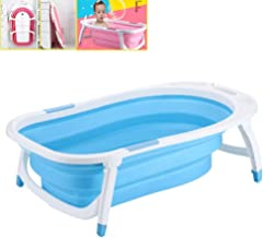 YAOBAO Newborn to Toddler Tub,Portable Collapsible Baby Bath Tub,Increase Legged and Shower Card Slot Toddler Tub for Wash Infants and Make Bath,82X50X23CM,A