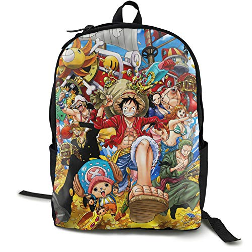 Popular Anime One Piece Luffy Zoro Woman Laptop Backpack High Capacity Pockets On Both Sides Wear-Resistant Simple Bookbag For School Business Travel Zoo