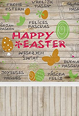 Easter Background Photography Backdrop Laeacco Easter Eggs Rabbit Easter Bunny Background