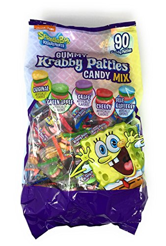 Spongebob Gummy Krabby Patties Candy Mix - 90 Ct.bag (1 Lb.12.55 Oz.)