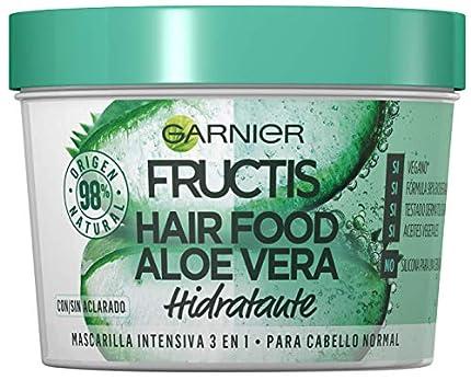 Garnier Fructis Hair Food Mascarilla Capilar 3 en 1 Aloe Vera Hidratante para Pelo Normal - 390 ml