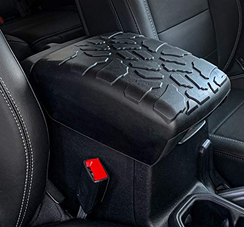 Boomerang Tire Tread Armpad for Jeep Wrangler JL (2018-2021) - Center Console Armrest Cover