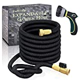 "6. TheFitLife Flexible and Expandable Garden Hose - Strongest Triple Latex Core with 3/4"" Solid Brass Fittings Free 8 Function Spray Nozzle, Easy Storage Kink Free Water Hose (25 FT)"