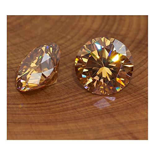 HXML Damen-Ohrstecker EF Insgesamt 1Ct Runde Cut Diamant Test Bestanden Moissanite 18K Weiß Gold Überzogene 925 Silber Ohrringe Frau Freundin Geschenk,Gelb