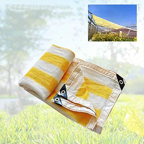 LCYXM schaduwnet, luifel van netstof, UV-bestendig, voor tuinbloemen/terrasgazon, met scheerlijnen