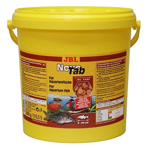 JBL Alleinfutter für fleischfressende Aquarienfische, Tabletten 10,5 l, NovoTab, 30201
