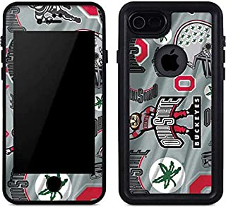 Skinit Waterproof Phone Case for iPhone 7 - Officially Licensed Ohio State University Ohio State Pattern Design