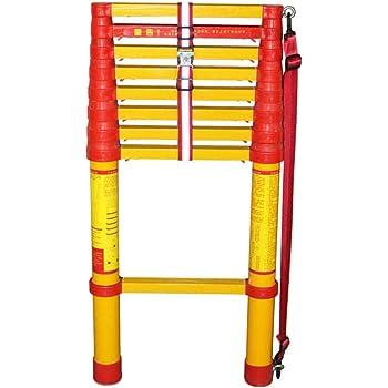 ZAQI Escalera Extensible Escalera telescópica Escalera Extensible de Fibra de Vidrio, Escalera telescópica Plegable Liviana, Tipo Loft, Uso Exterior/Industrial/de Emergencia, Carga 150 kg (Size : 1M): Amazon.es: Hogar