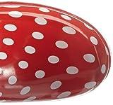 Playshoes Gummistiefel Punkte aus Naturkautschuk 190100, Damen Gummistiefel, Rot (rot 8), EU 40 - 7