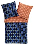 Zucchi Cameo Bettwäsche-Garnitur 155x220 / 80x80 V3 blau