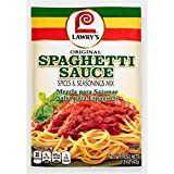 Lawry's Spaghetti Sauce Spice & Seasonings, Original Style, 1.5-Ounce Packets (Pack of 24)