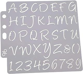 HEALLILY Plantillas de Letras Y Números Plantillas de