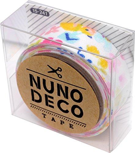 KAWAGUCHI(カワグチ) NUNO DECO TAPE ヌノデコテープ 1.5cm幅 1.2m巻 森のうたももいろ 15-241
