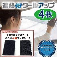 追加面ファスナー付き セキスイ(積水)ナノコートテクノロジー 遮熱クールアップ 100×200cm 4枚組 遮熱効果-11℃ UVカット