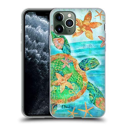 Officiële Paul Brent Nassau Schildpad Kust Soft Gel Case Compatibel voor Apple iPhone 11 Pro