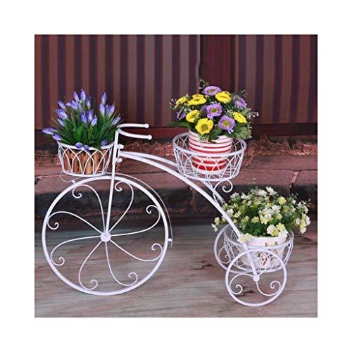KDLMB Flower frame smeedijzeren fiets-vormige indoor en outdoor balkon bloem pot rack plantenstandaard (2 uit de verkoop)