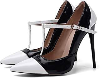 Colorblock Pointed High Heels For Banquet Wedding Dress Daily (Color : Black, Size : 35)