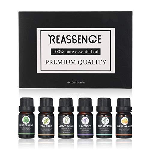 Anself Aceites Esenciales para Humidificador, 6PCS Aceite Esencial de Plantas Naturales con Aroma Puro, Aceite Perfumado, Esencias para Humidificador